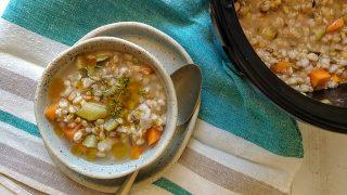 Zuppa di farro in slow cooker o crock pot