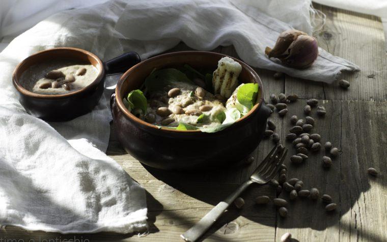 Radici e fasioi ricetta trevisana con polenta bianca