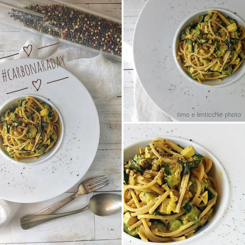 Carbonara vegana di zucchine