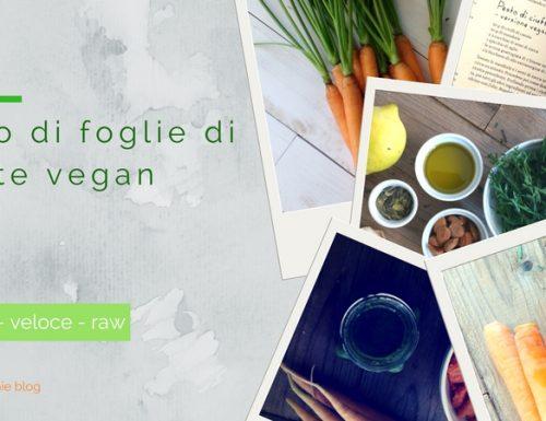 Pesto di foglie di carote vegan veloce
