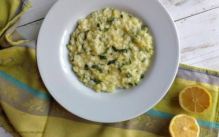 Risotto zucchine e limone – ricetta vegetale