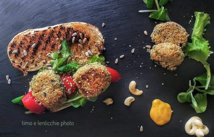 Burger vegetali quinoa zucchine