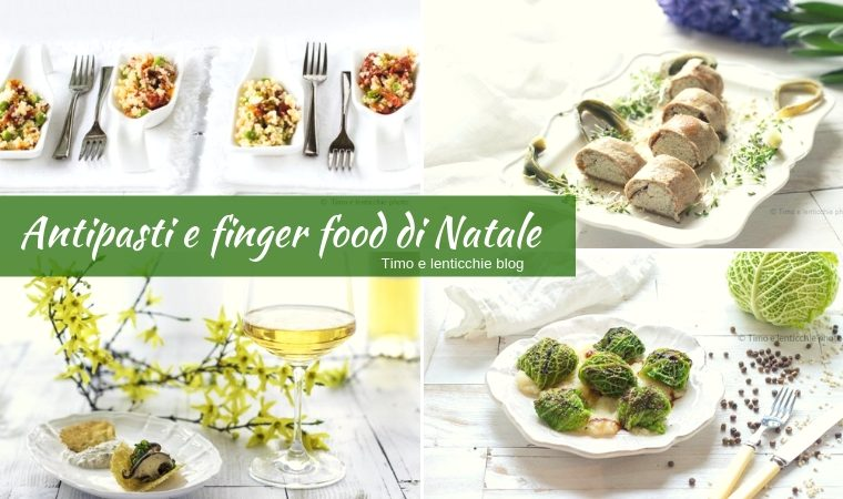 Antipasti e finger food di Natale