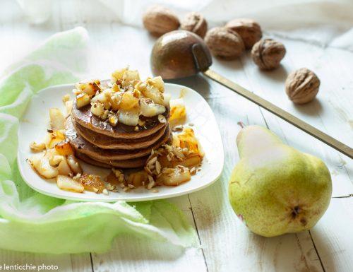 Pancakes con pere e cacao