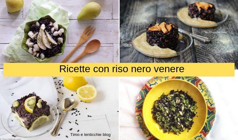 Ricette con riso nero Venere
