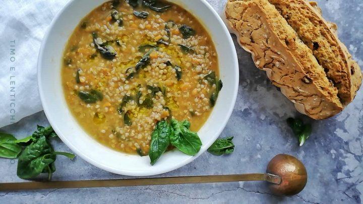 Zuppa di grano saraceno batata e spinaci 3