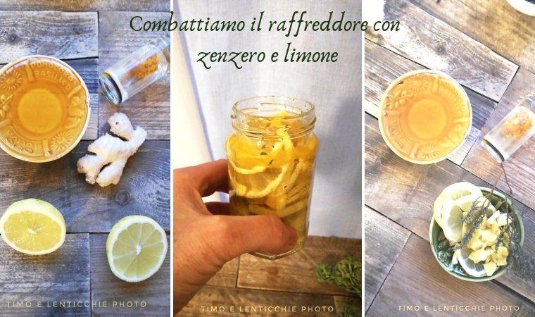 Sciroppo per raffreddore zenzero e limone