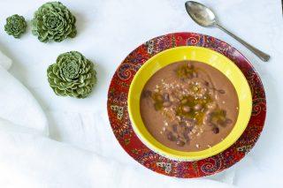 zuppa di farro e borlotti 1