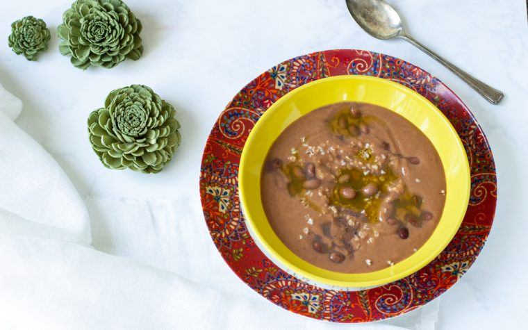 Zuppa di farro spezzato e borlotti