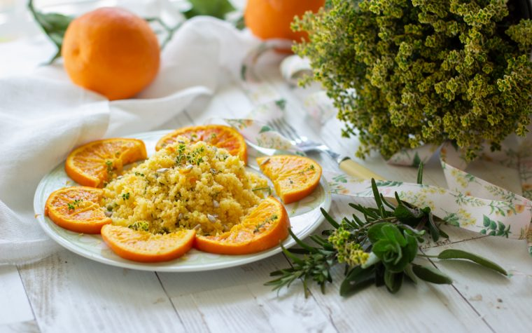 Cous cous al timo e arancia