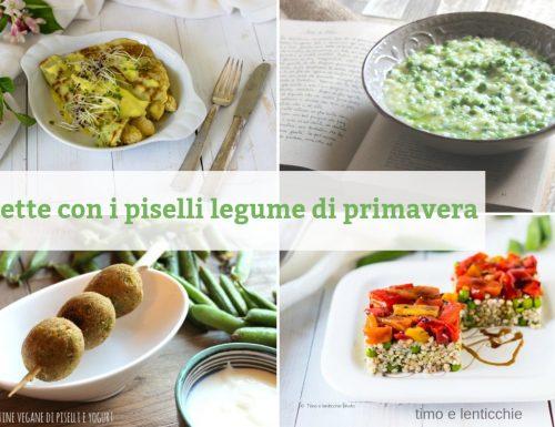 Ricette con i piselli legume di primavera