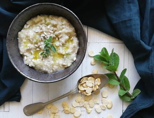 Zuppa di fave sgusciate secche
