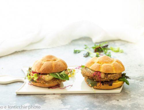 Panini con burger e mostarda – veg