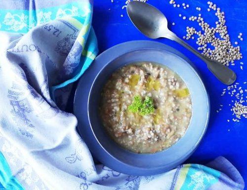 Zuppa avena e lenticchie – semplice
