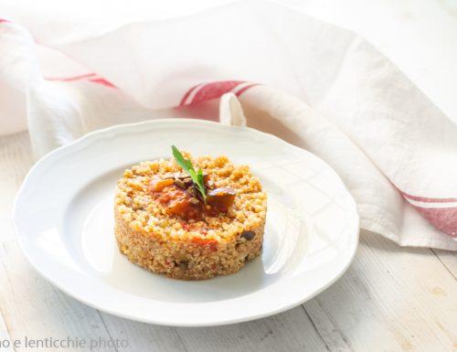 Quinoa al sugo di melanzane