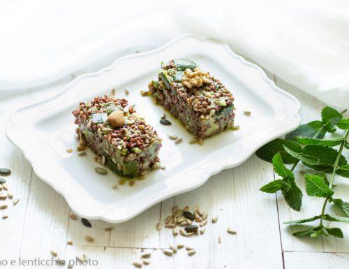 Riso selvaggio al pesto di noci – riso rosso