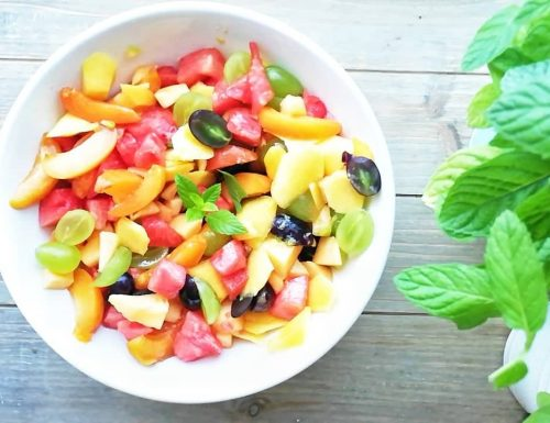 Macedonia di frutta al lime – senza zuccheri aggiunti