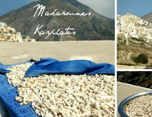 Makarounes di Kharpatos ricetta greca