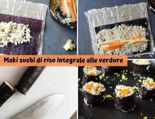 Maki sushi di riso integrale alle verdure