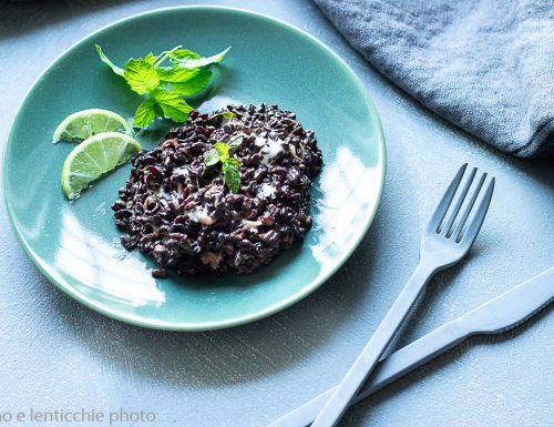 Riso nero al latte di cocco – riso Venere