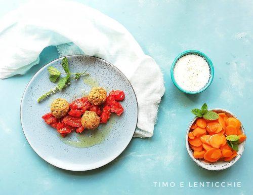 Polpette di lenticchie al pomodoro
