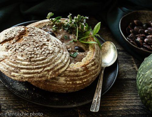 Zuppa veneta nel pane