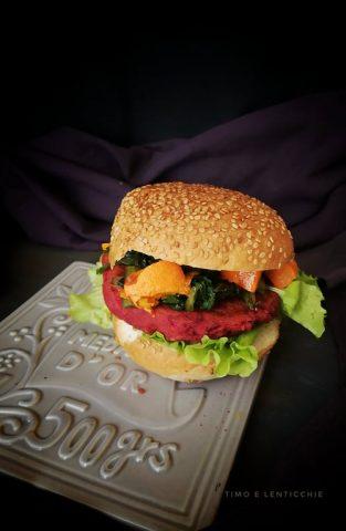 Burger di barbabietola - rapa rossa