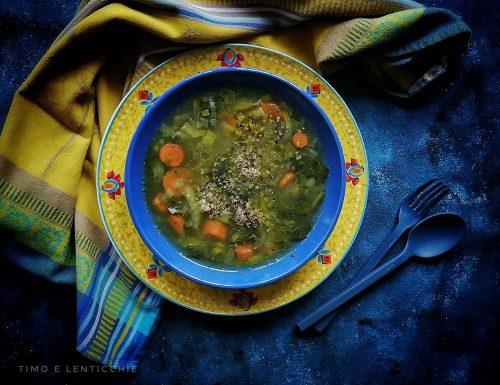 Minestrone lenticchie e quinoa