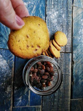 biscotti alla zucca con uvetta