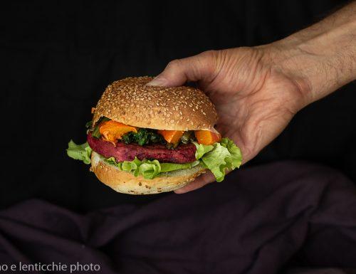 Burger di barbabietola rapa rossa