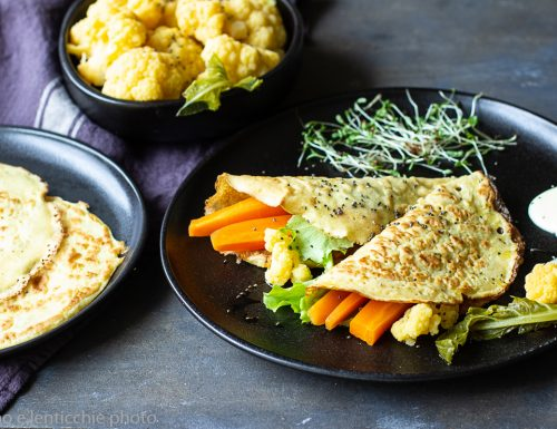 Vegan crepe di ceci con tofu