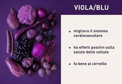 Ricette vegetariane in blu viola