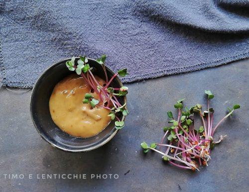 Salsa miso – tahin  dip macrobiotica