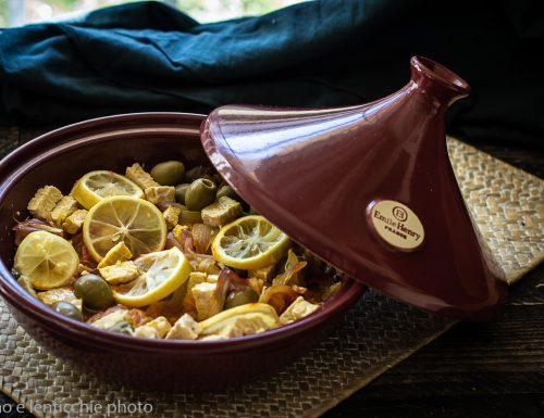 Tajine M'qalli limone e olive vegan