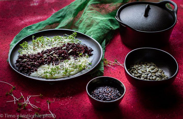 riso nero su crema di topinambur