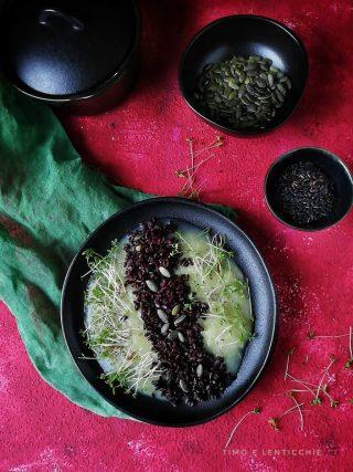 riso nero su crema di topinambur 5