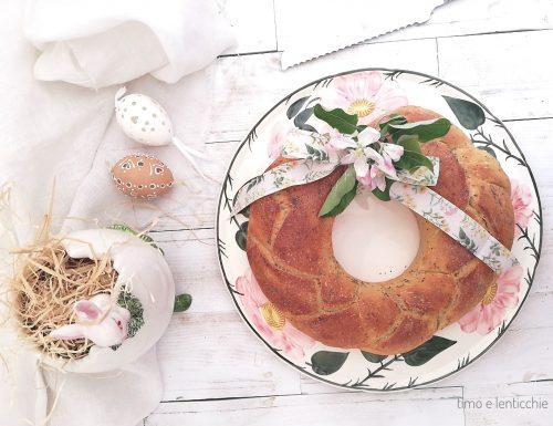 Ghirlanda di pane per la Pasqua