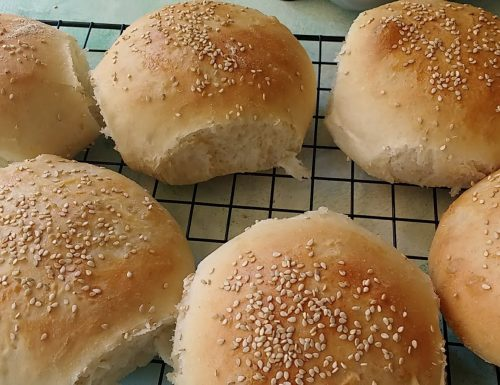 Burger buns con lievito madre