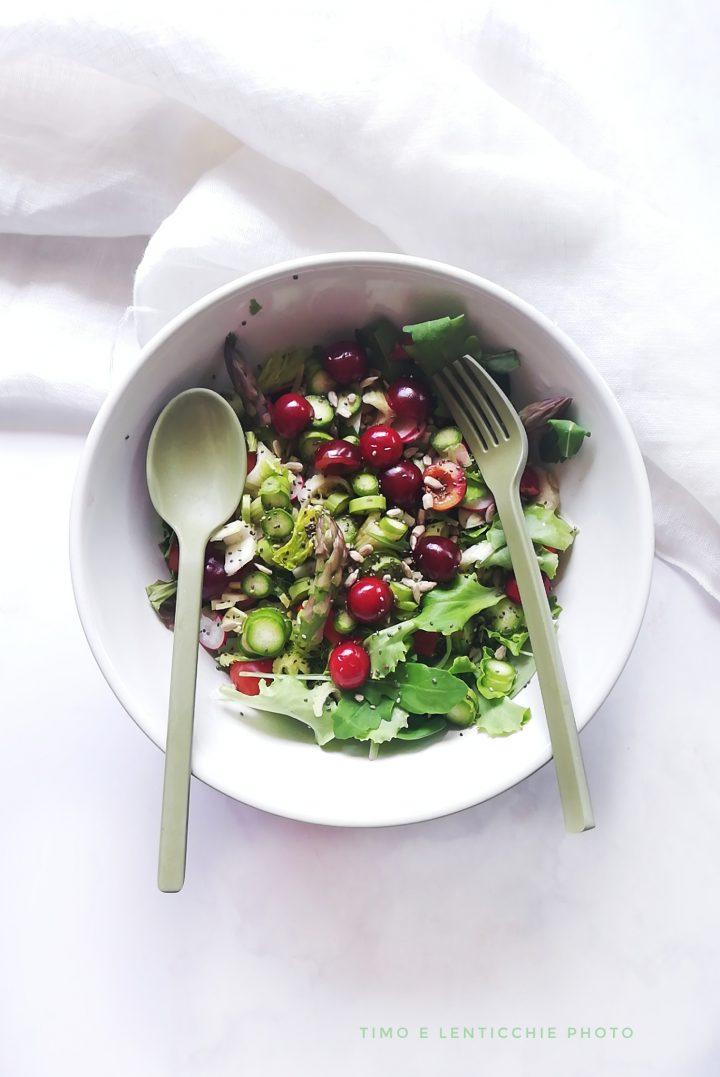 insalata con ciliegie