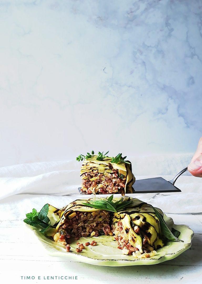 tortino con zucchine riso e ceci