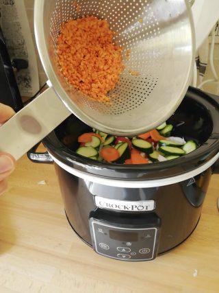 versa le lenticchie in crock pot