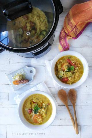 zuppa di cocco in crock pot