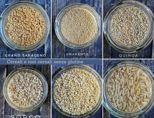 Cereali senza glutine in cucina