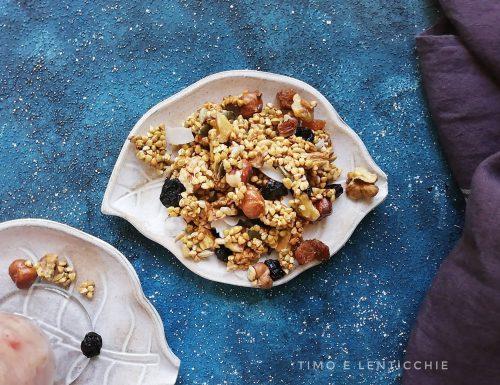 Granola di grano saraceno macrobiotica granola fatta in casa