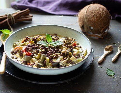 Curry di verdure e azuki
