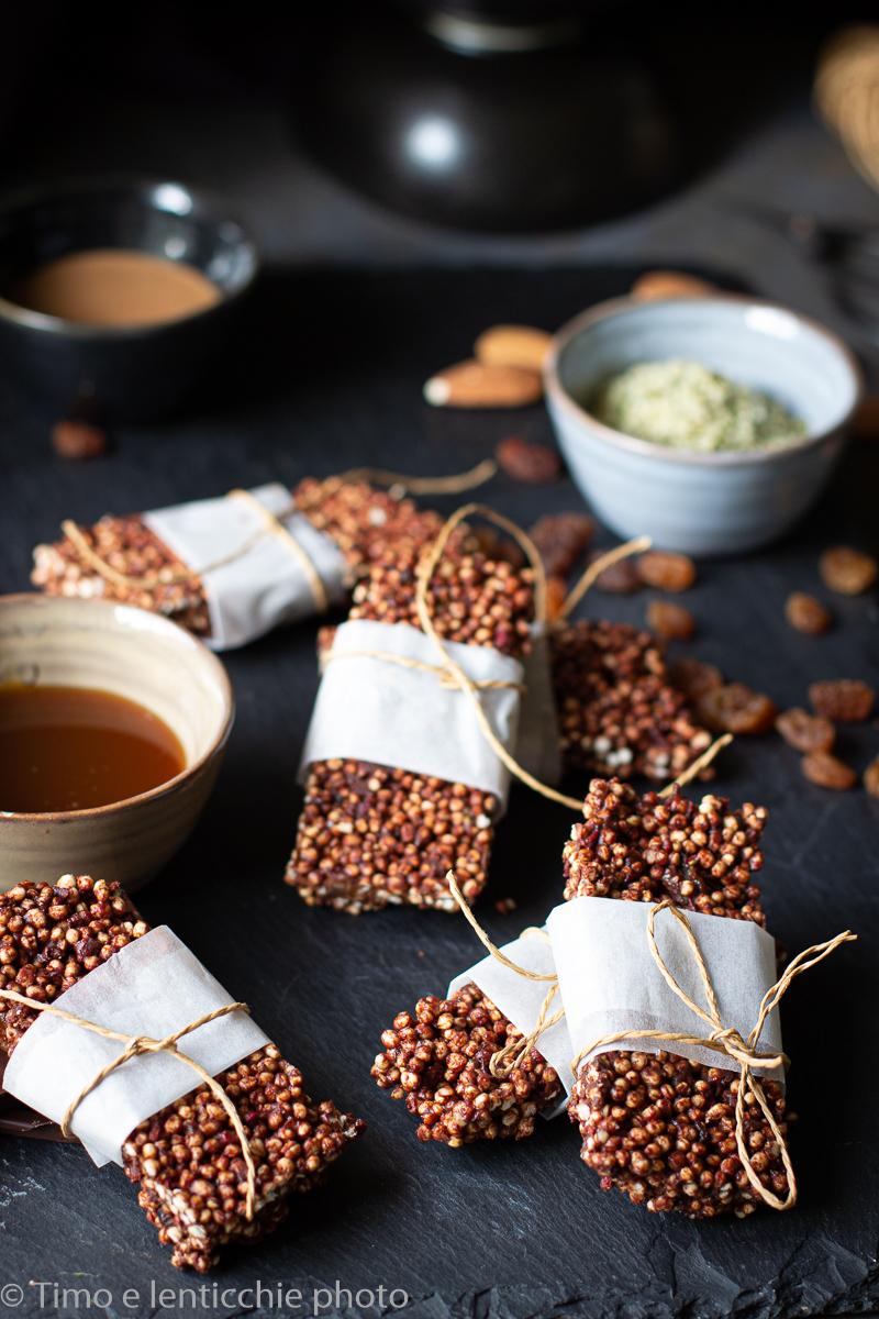 Barrette di quinoa al cioccolato