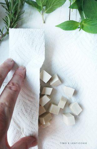 asciugatura del tofu