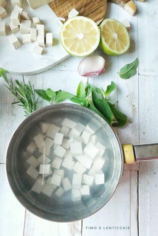 bollitura del tofu
