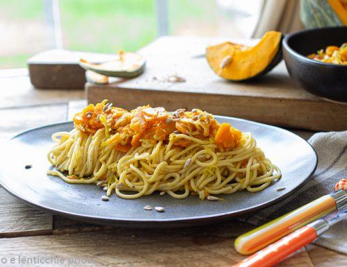 Bigoli con verdure con farina di lenticchie
