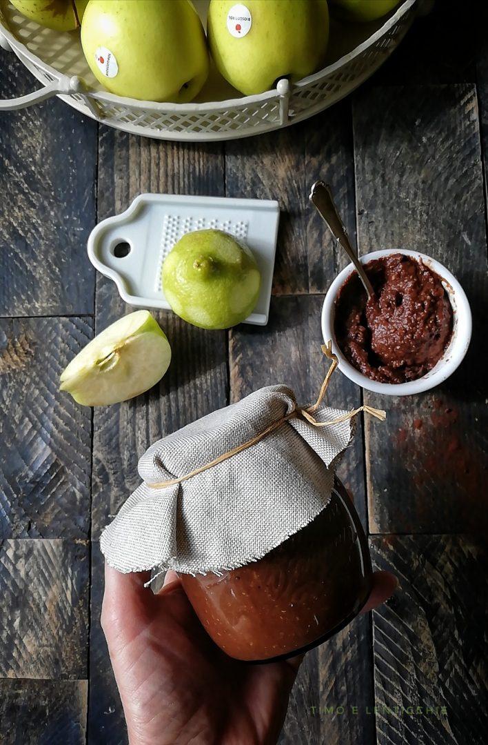 confettura di mele e cacao 1